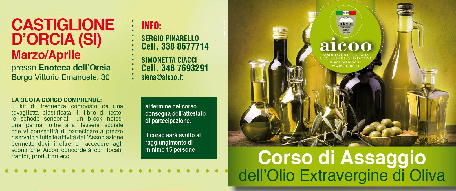Corso – Assaggio Olio Extravergine – Castiglion d'Orcia (SI)
