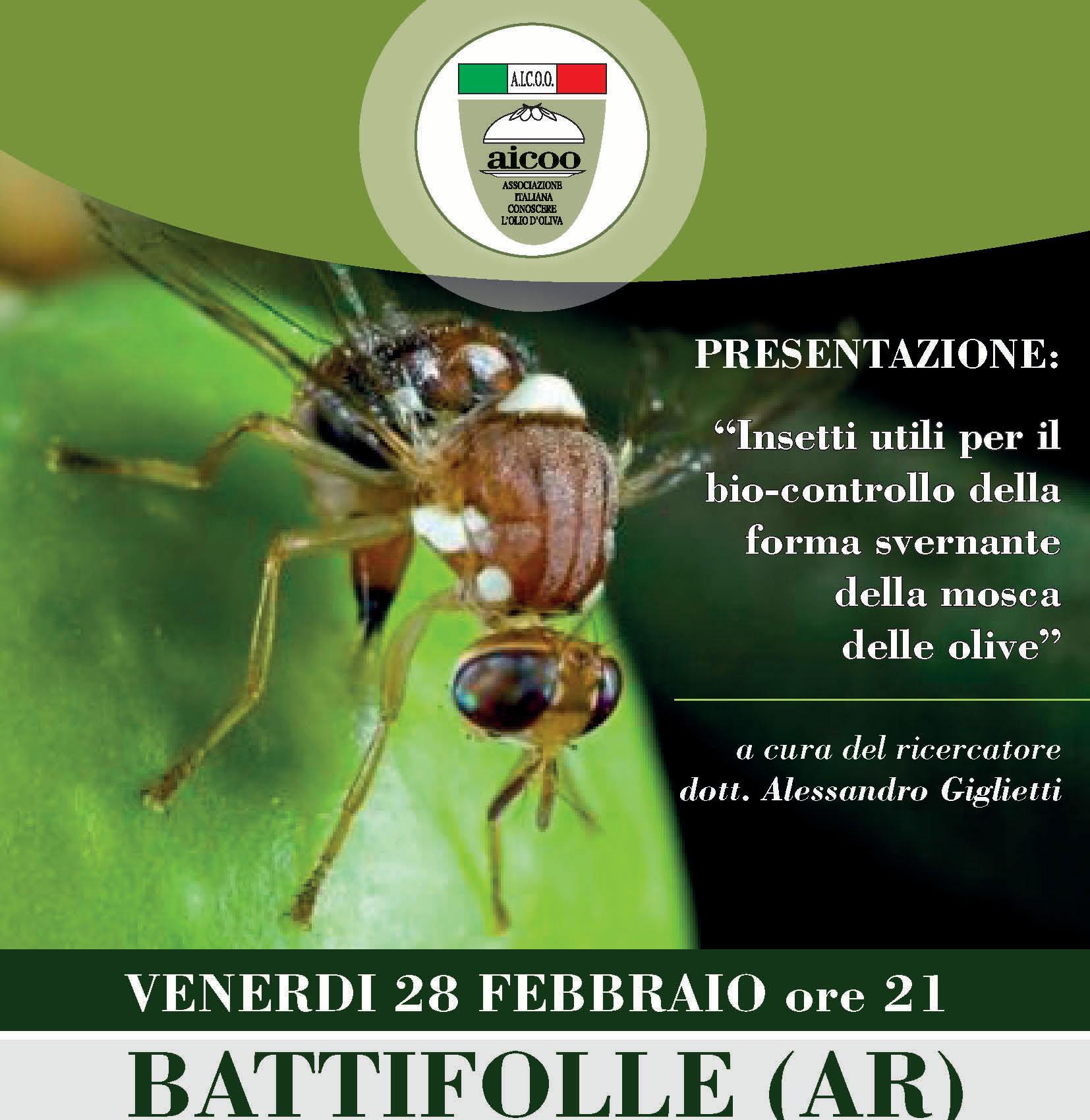 Insetti Utili per il Bio-Controllo della forma svernante della mosca delle olive